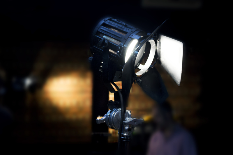 Vintage Theatre Spot Light In The Studio